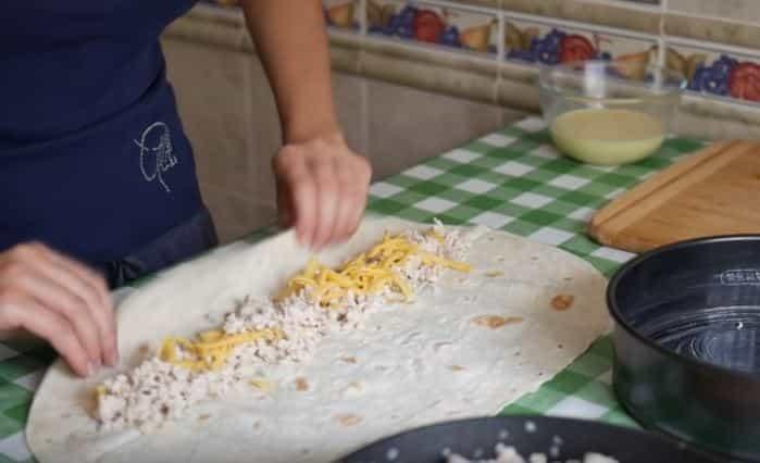 Простой пирог из лаваша в духовке
