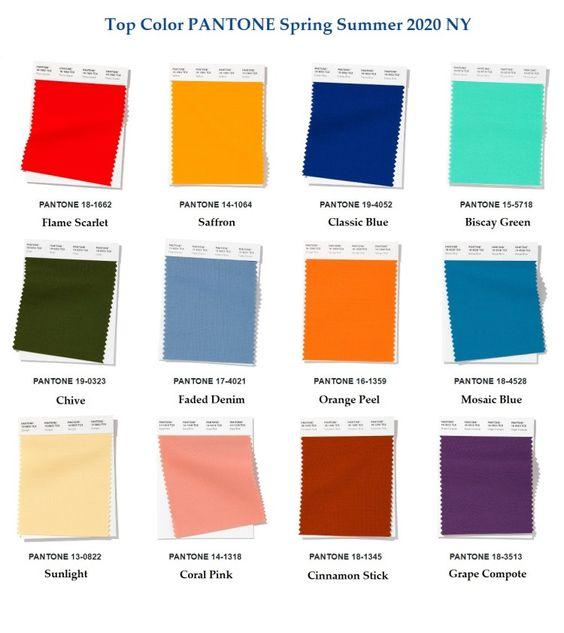 Модная палитра цвета одежды 2020