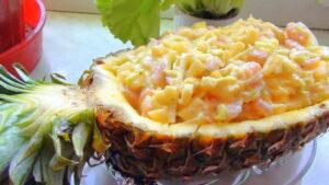 Вкусный салат с курицей и ананасами «Миледи»