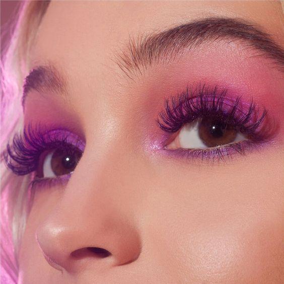 Модный макияж глаз - фиолетовый